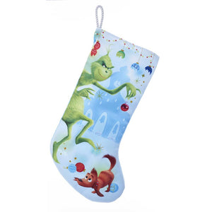 Kurt Adler The Grinch Naughty Printed Stocking, GRH7182