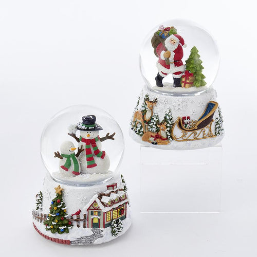 Kurt Adler Musical Water Globes, Choose from 2 Assorted, H0670