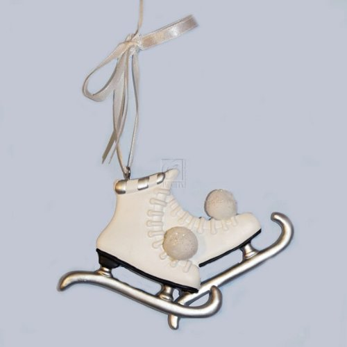 Resin Ice Skate Ornament for Personalization or New York, H1036