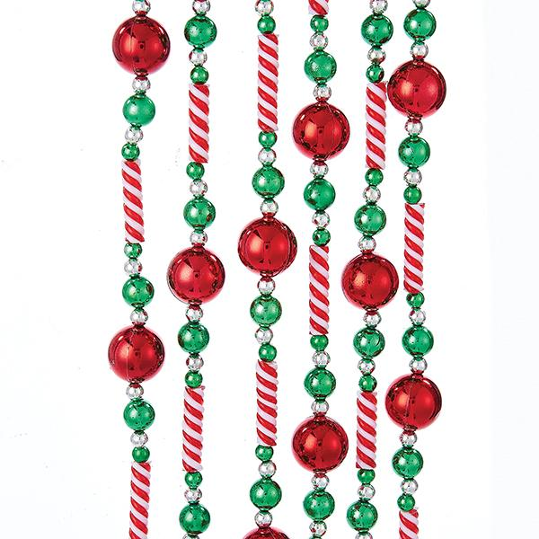 Kurt Adler Red, White and Green Candy Bead Garland, H2043
