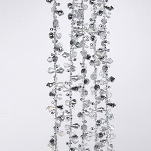 Kurt Adler Iridescent and Silver Beaded Garland, H2086/IRS