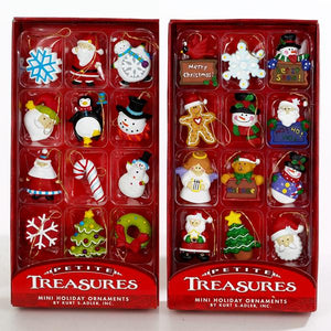 Kurt Adler Petite Treasures Mini Ornaments, 12-Piece Box Set, H9914