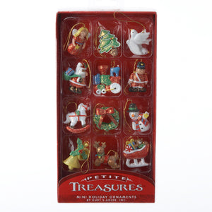 Kurt Adler Petite Treasures Glitter Gingerbread Miniature Ornaments, 12-Piece Box Set, H9986