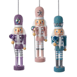 Kurt Adler 6-Inch Hollywood Pastel Nutcracker Ornaments, 3 Assorted, HA0308