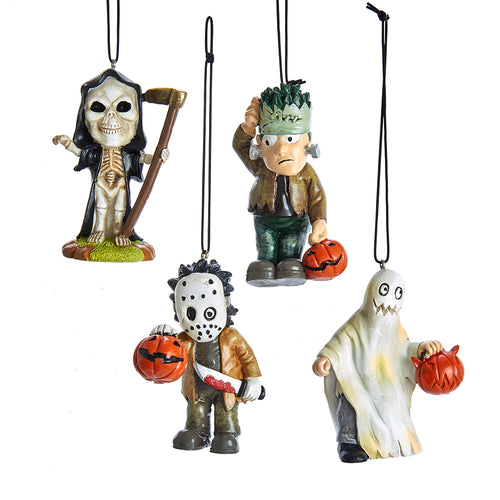 Halloween Spooky Ornament, 4 Assorted, HW1783