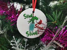 2020 Stink Stank Stunk Grinch Christmas Round Ceramic Ornament