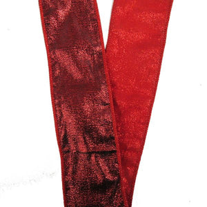 Kurt Adler 10-yard Red Tissue Sparkle Overlay Ribbon