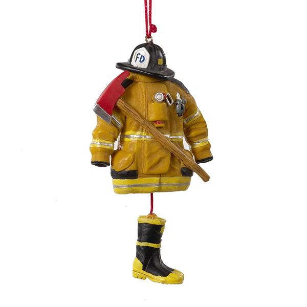 Kurt Adler Fireman Uniform Ornament, J1038