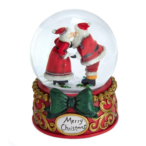 Kurt Adler 100MM Musical Mr. & Mrs. Claus Snowglobe, J3263