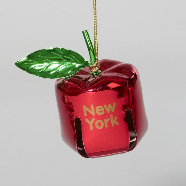 Kurt Adler Red Metal New York Bell Ornament, J4954