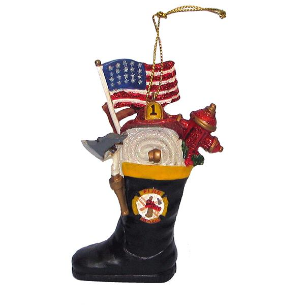 Kurt Adler Firefighter's Boot Ornament, J7145