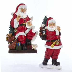 "Resin 11"" Traditional Vintage-Style Santa Table Piece Figure, 2 Styles, J7388"
