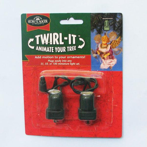 Kurt Adler Twirl-It Motor Pigtail Ornament Twirlers, 2-Piece Set, J7802