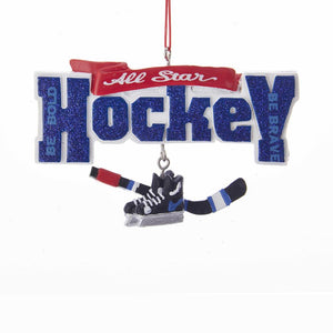 Kurt Adler All-Star Hockey Dangle Ornament, J8508