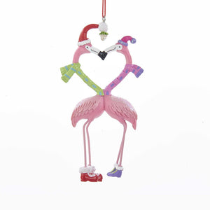 Kurt Adler Kissing Flamingos Ornament, J8512