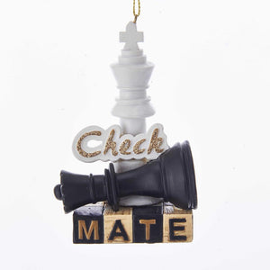 "Kurt Adler Chess ""Check Mate"" Ornament, J8520"