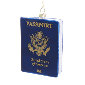 Kurt Adler Glass Passport Ornament, J8540