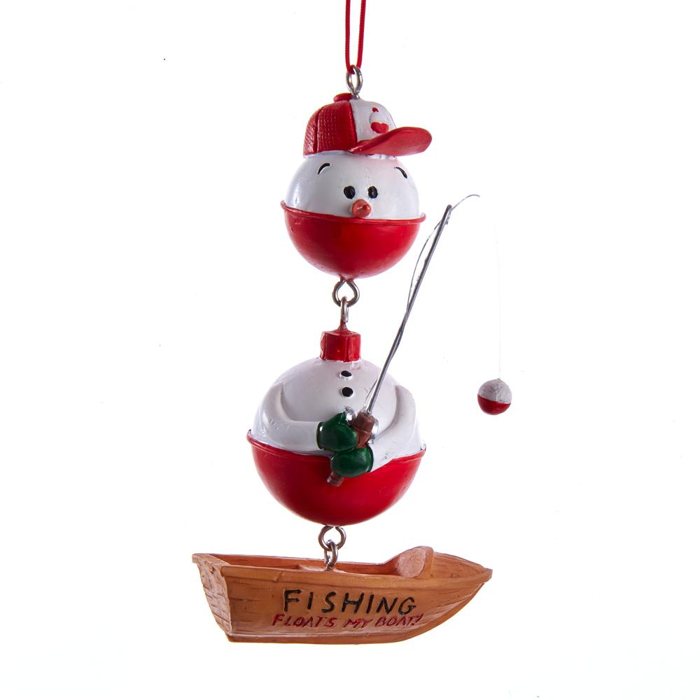 Kurt Adler Fishing Snowman Ornament, J8545