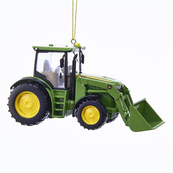 Kurt Adler John Deere Tractor Loader Ornament, JR1172