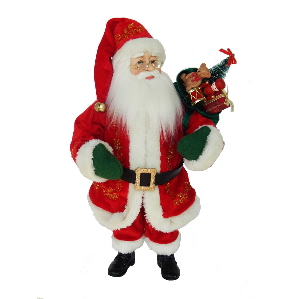 KSA Kringles Battery-Operated 18-Inch Kringle Klaus LED Santa Figure, KK0021