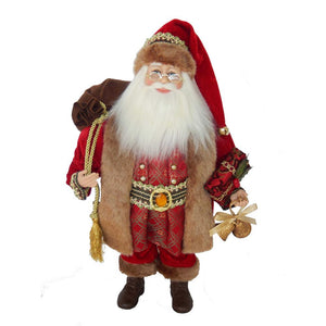 Kurt Adler KSA Kringles 18-Inch Kringle Klaus Elegant Burgundy and Gold Santa, KK0023