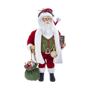 "Kurt Adler 18""Kringle Klaus Red/Green/White Santa , KK0066"