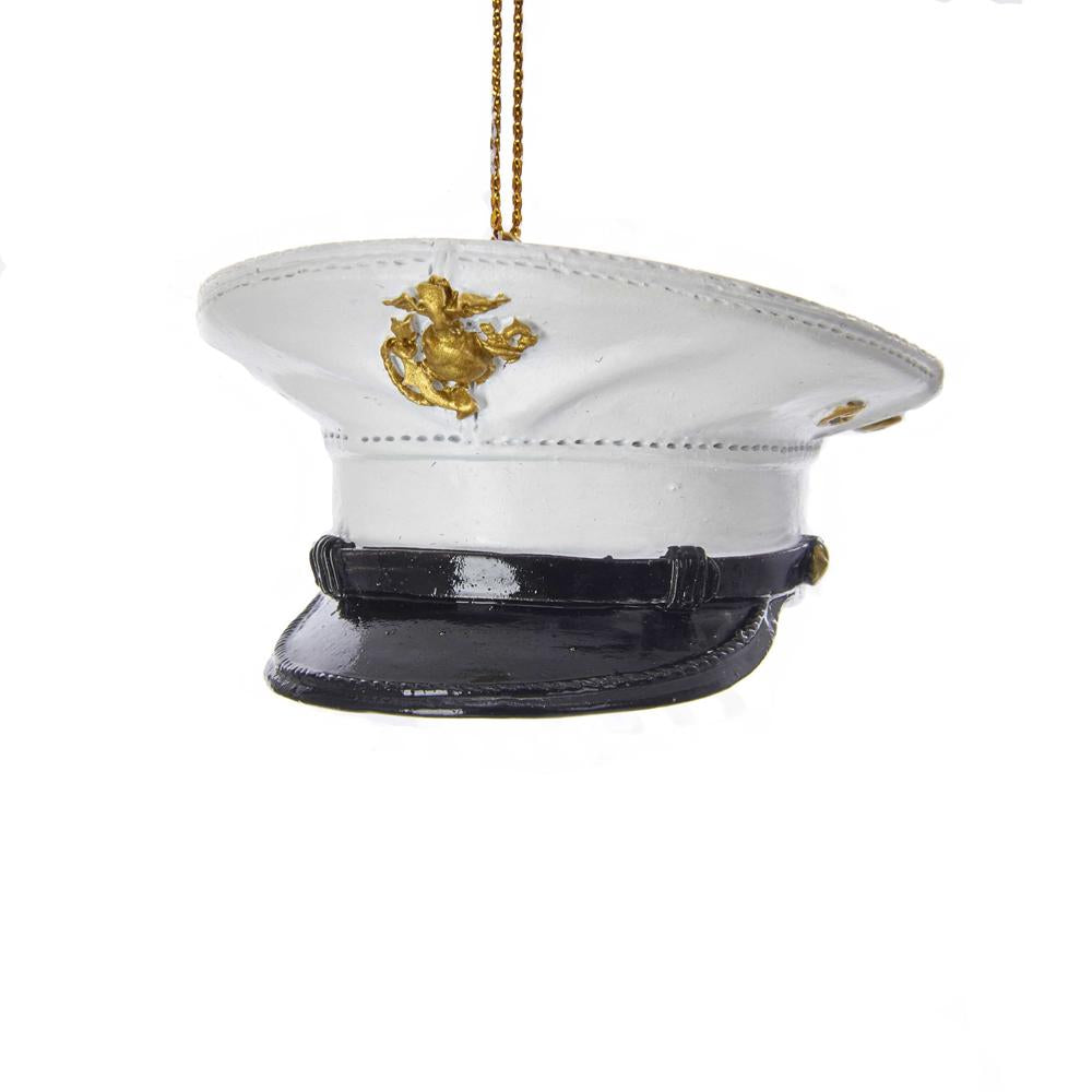 Kurt Adler U.S. Marine Corps Dress Uniform Hat Ornament, MC2182