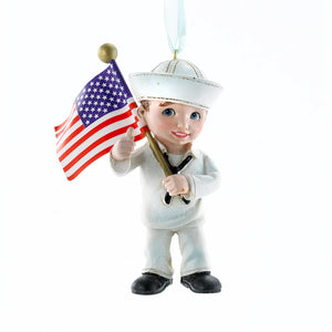 Kurt Adler U.S. Navy Child Ornament, NA2143