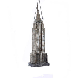 Kurt Adler Noble Gems Empire State Building Glass Ornament, NB0839