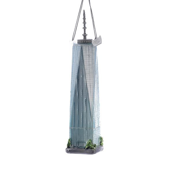 Kurt Adler Noble Gems Freedom Tower Glass Ornament, NB0849