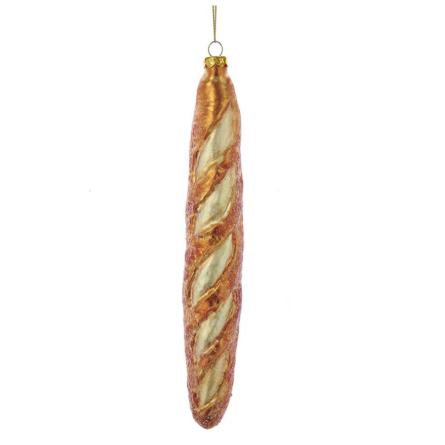 Kurt Adler Noble Gems French Baguette Glass Ornament, NB1231