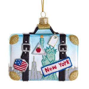"Kurt Adler 4""Noble Gems New York Suitcase Ornament , NB1438"