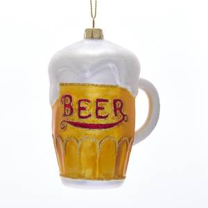 Noble Gems Glass Beer Mug Ornament, NB1506
