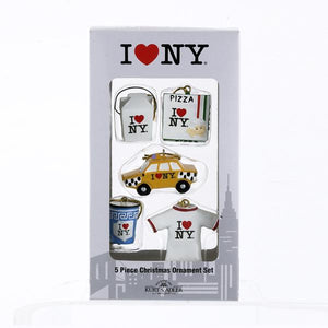 Kurt Adler I Love NY Miniature Ornaments, 5-Piece Box Set, NY0702