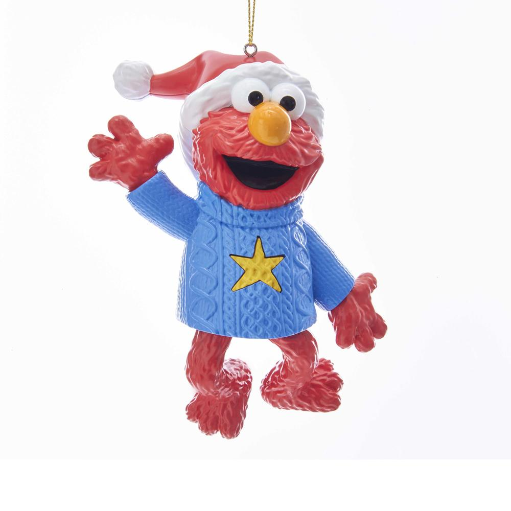 Kurt Adler Sesame Street Elmo Light and Sound Ornament, SE1182