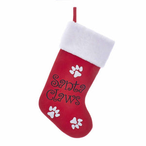"Kurt Adler Red ""Santa Claws"" Stocking, SG0189"