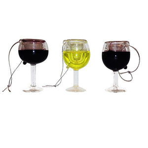 Kurt Adler Wine Glass Ornaments, 3 Assorted, T0748