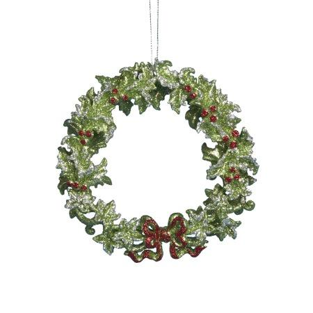 Kurt Adler Green Wreath Ornament, T1043