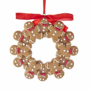 Kurt Adler Gingerbread Wreath Ornament, T2592