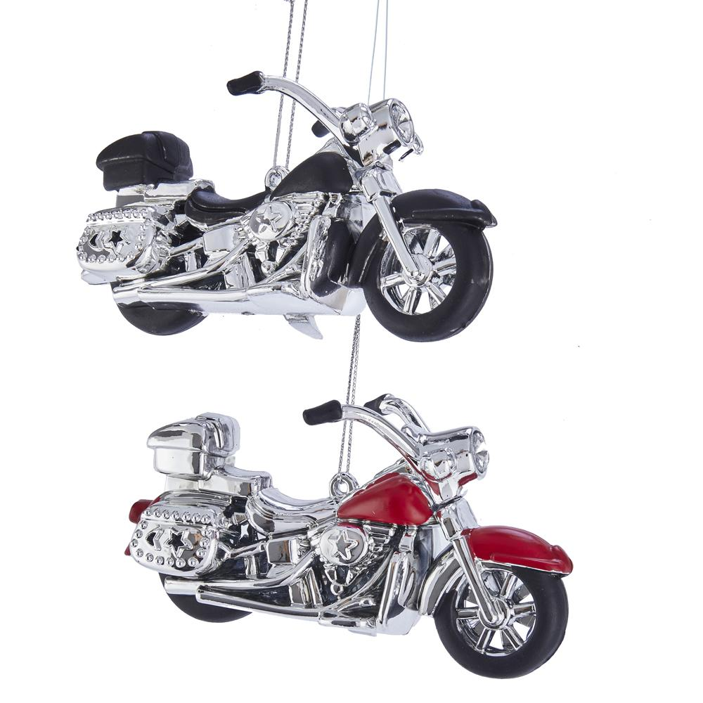 Kurt Adler MOTORCYCLE ORNAMENTS, 2 ASSORTED, T2632