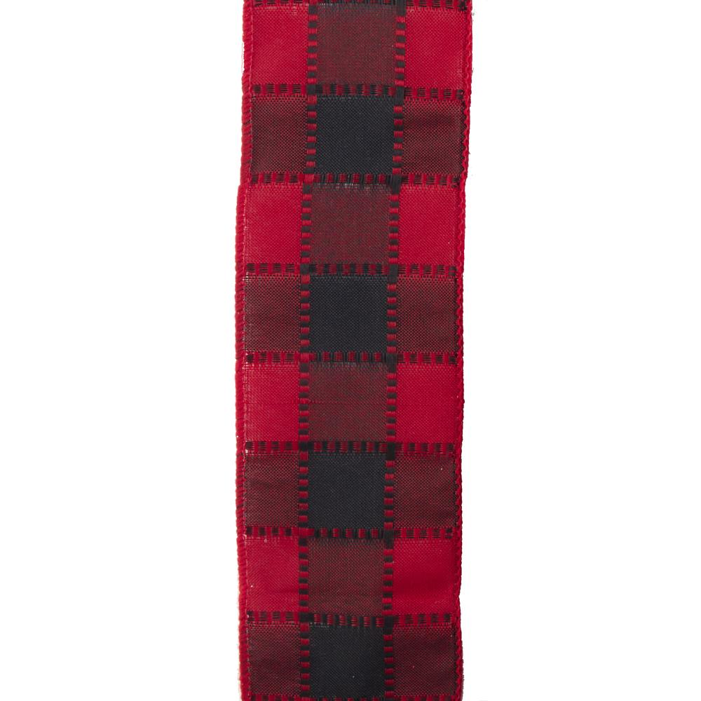Kurt Adler Red And Black Check Ribbon, T2660