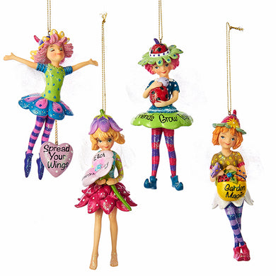 Garden Fairy Angel Ornament with Saying, TD1518