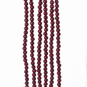 Kurt Adler Burgundy Wooden Bead Garland- 9 feet long, TN0066/BURG