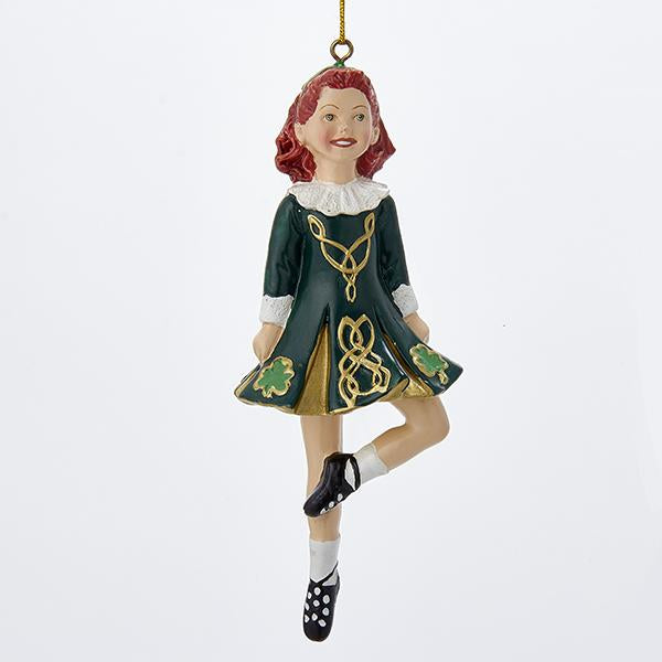 Kurt Adler Dancing Irish Girl Ornament, W4100
