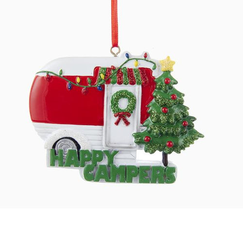 Kurt Adler Happy Campers Ornament For Personalization, W8204