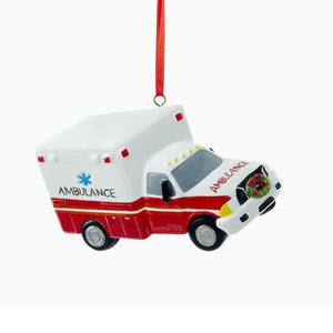 Kurt Adler Ambulance Ornament For Personalization, W8211