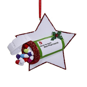 Kurt Adler Best Pharmacist Ornament For Personalization, W8281