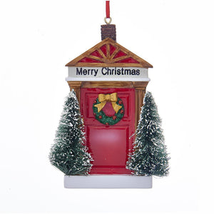 "Kurt Adler ""Merry Christmas"" Door Ornament For Personalization, W8363"