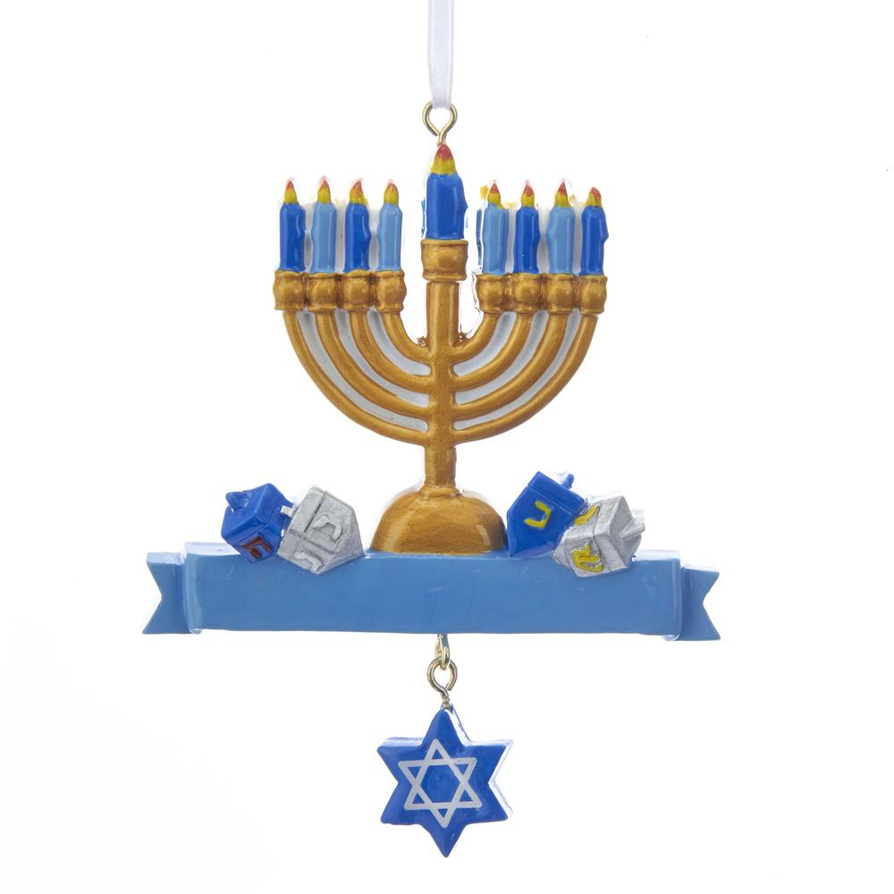 Kurt Adler Hanukkah Ornament For Personalization, W8379