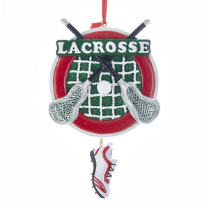 Kurt Adler Lacrosse With Shoe Dangle Ornament For Personalization, W8384